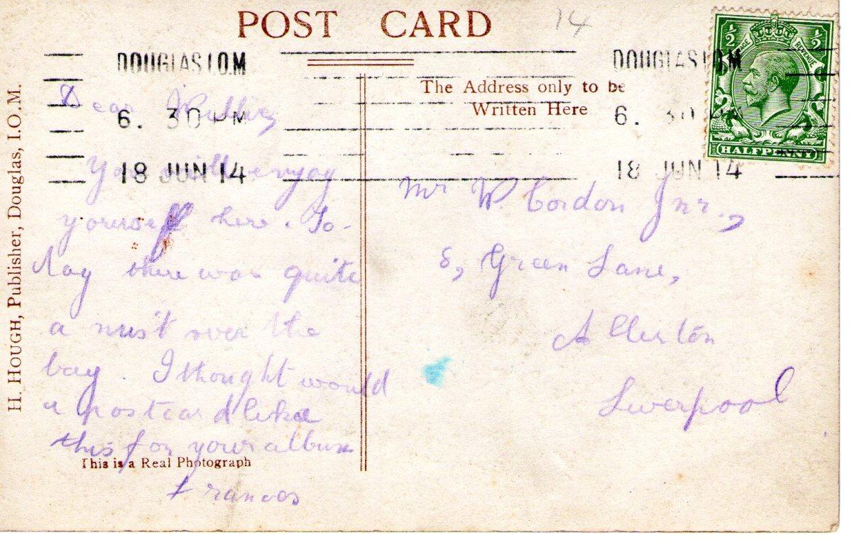 Postcard 1914 8 Reverse