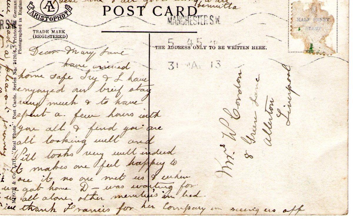 Postcard 1913 1 Reverse