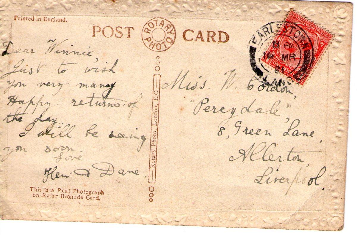 Postcard 1918 1 Reverse