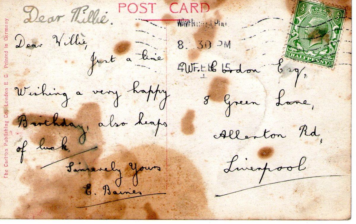 Postcard 1915 8 Reverse