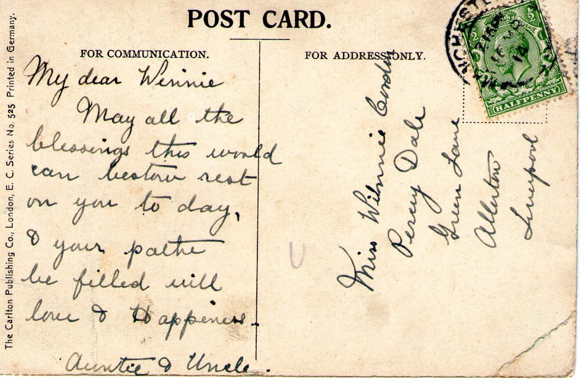 Postcard 1914 9 Reverse