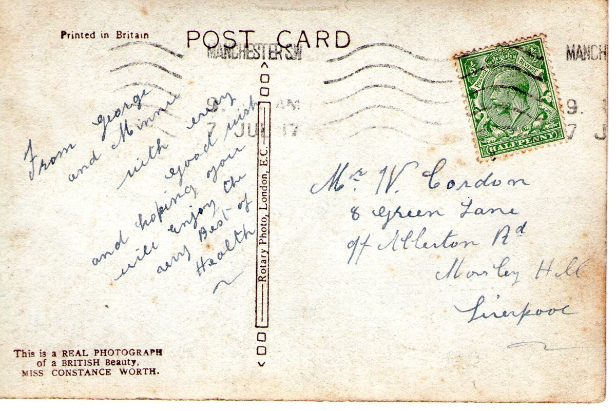 Postcard 1917 2 Reverse