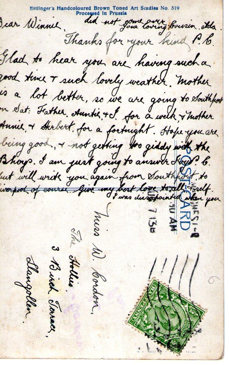 Postcard 1913 3 Reverse