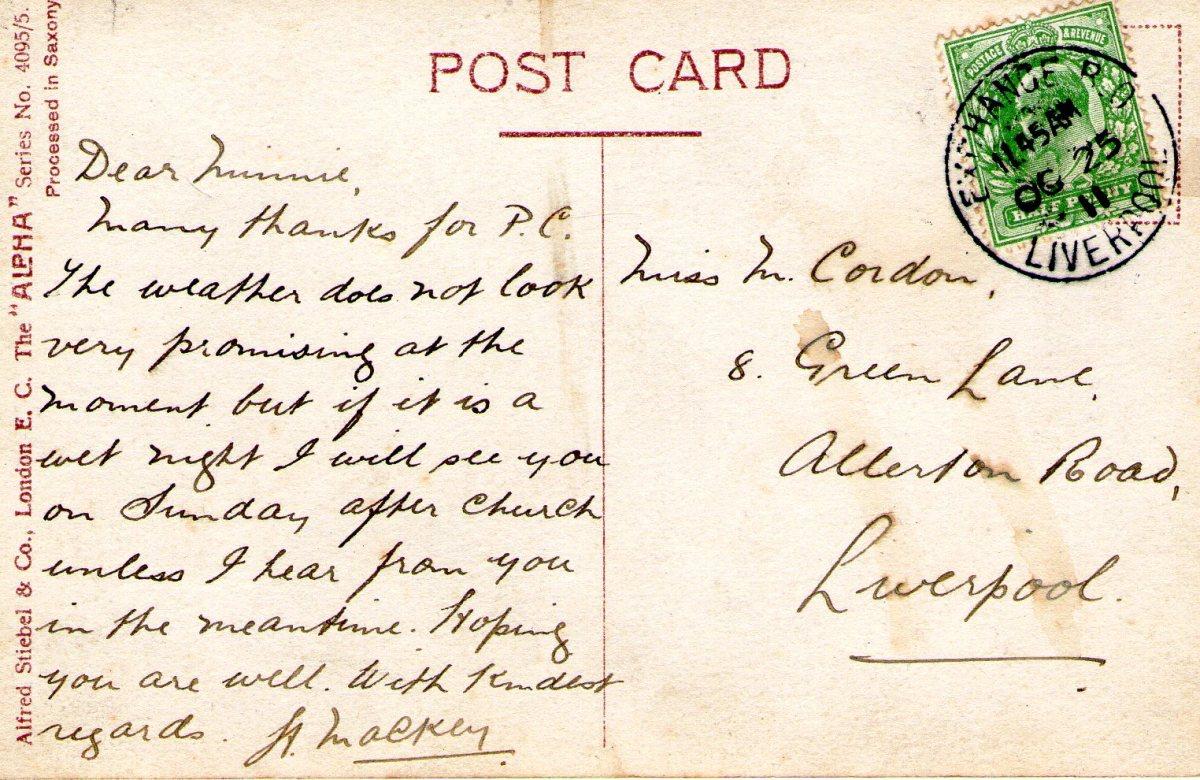 Postcard 1911 1 Reverse