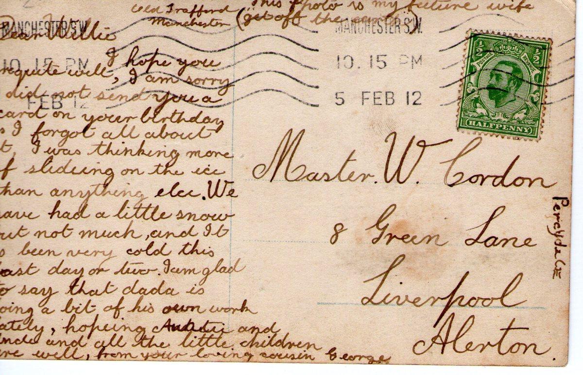 Postcard 1912 4 Reverse