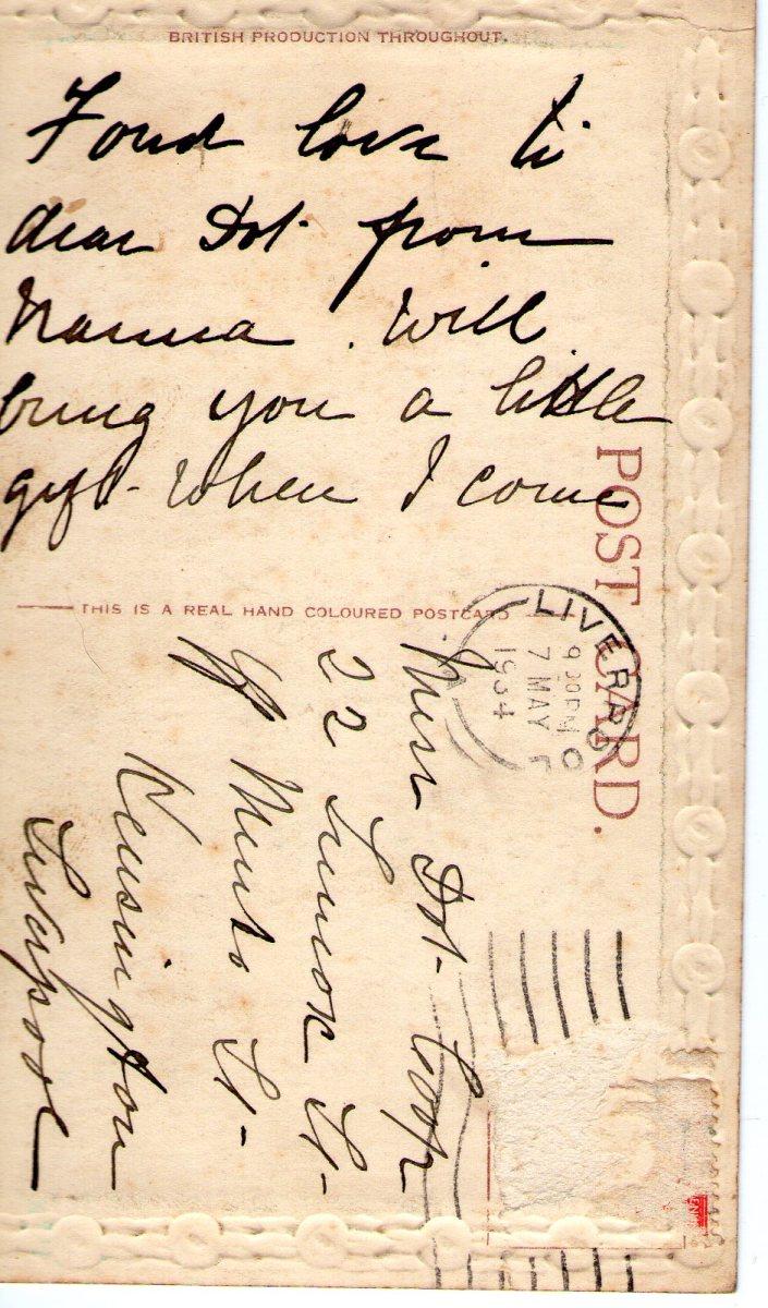 Postcard 1934 1 Reverse