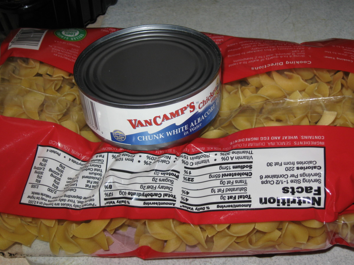Canned Tuna Fish and Egg Noodles