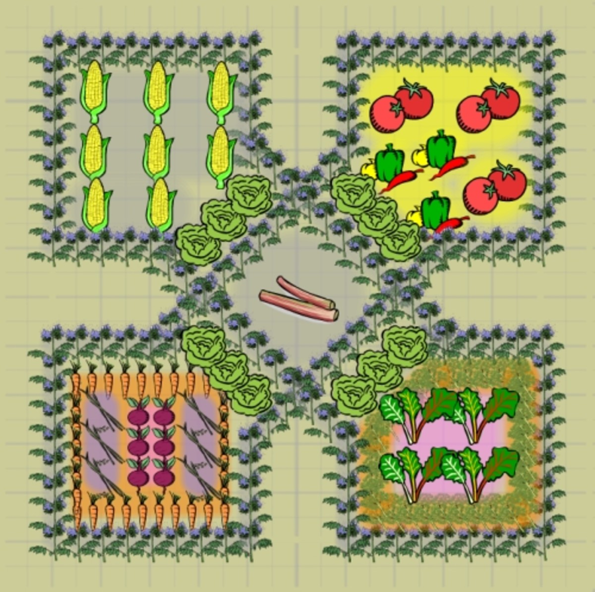 potager garden layout 6