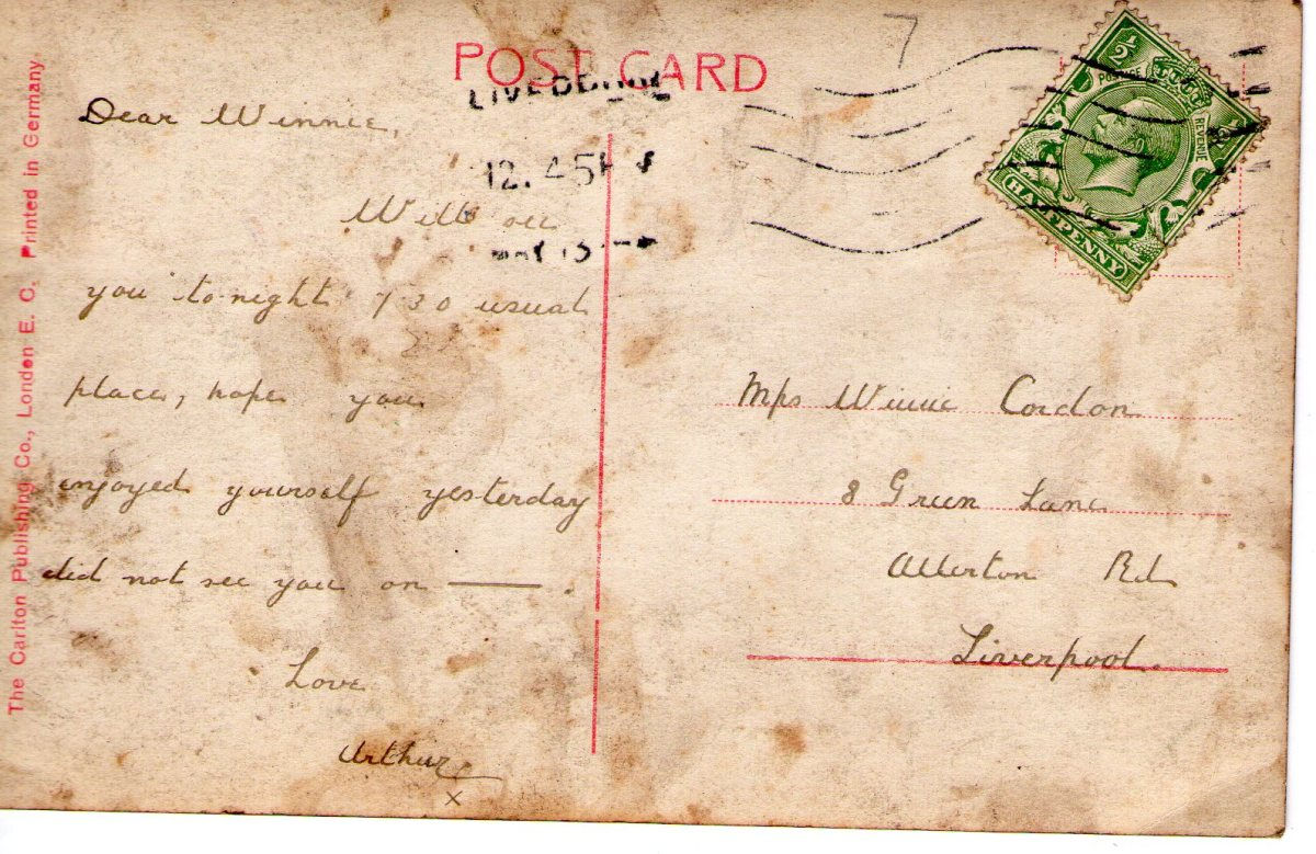Postcard 1913 6 Reverse