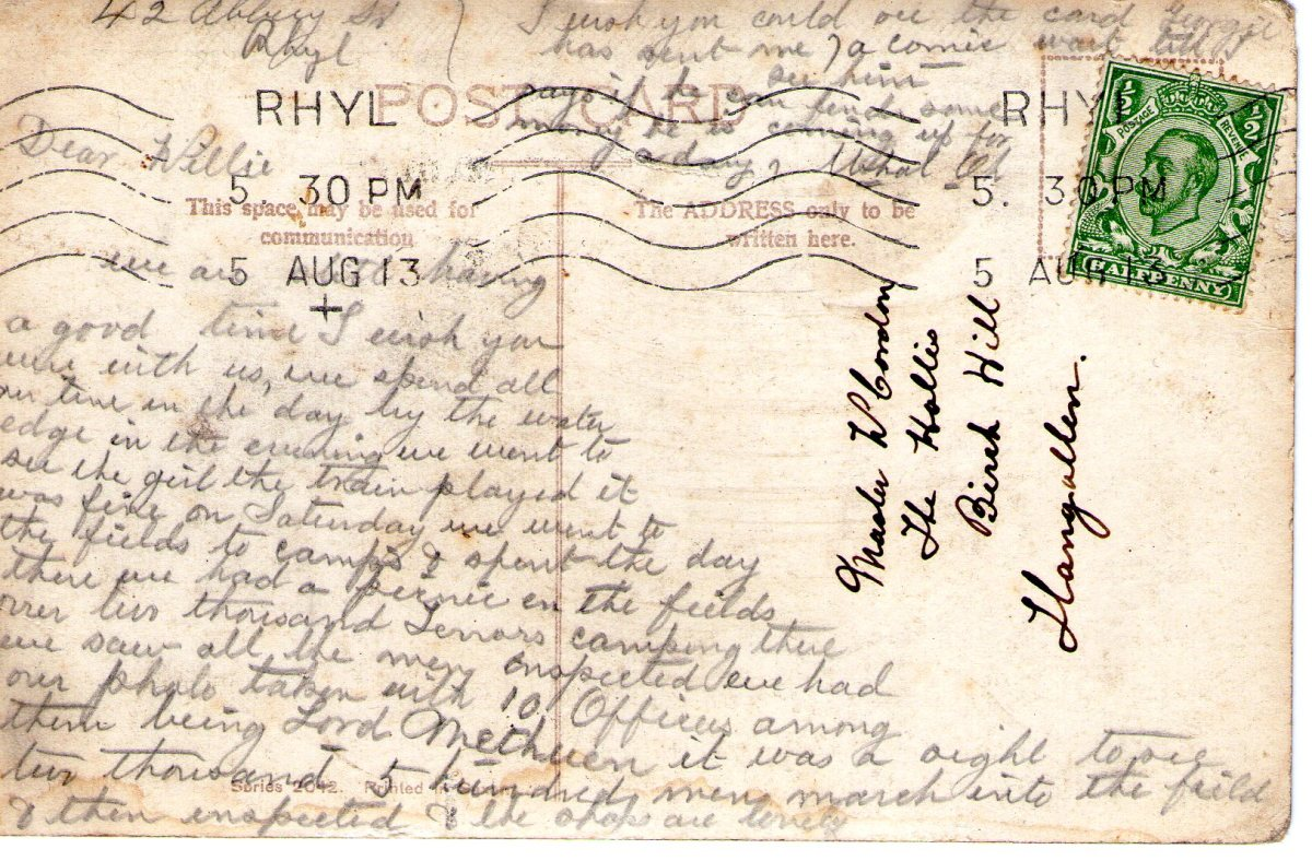 Postcard 1913 4 Reverse