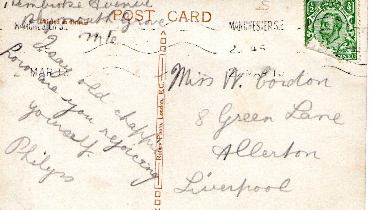 Postcard 1913 5 Reverse