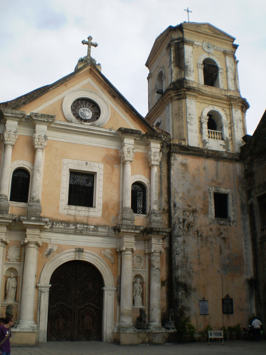 The unassuming San Augustin Church in Manila's Intramuros is the oldest (c 1607) still standing in the country (Philippines) and a World Heritage Site.