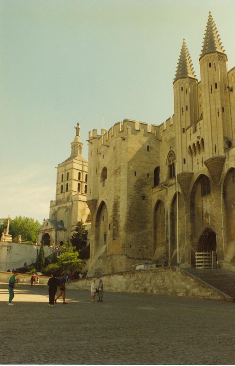 Papal palace, Avignon, France.