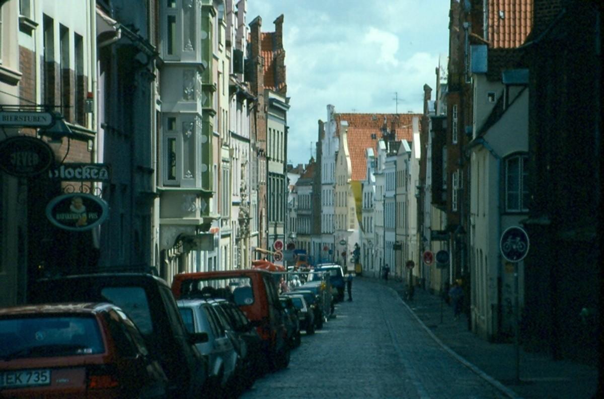 Street scene, Luebeck, Germany.
