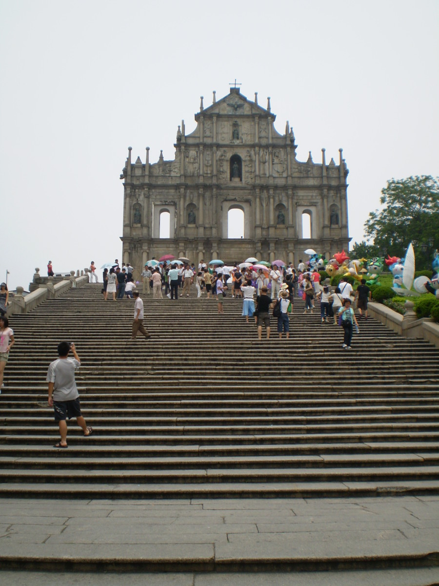 St Paul's, Macau, China, along with the historic center if the city, is a World Heritage Site.