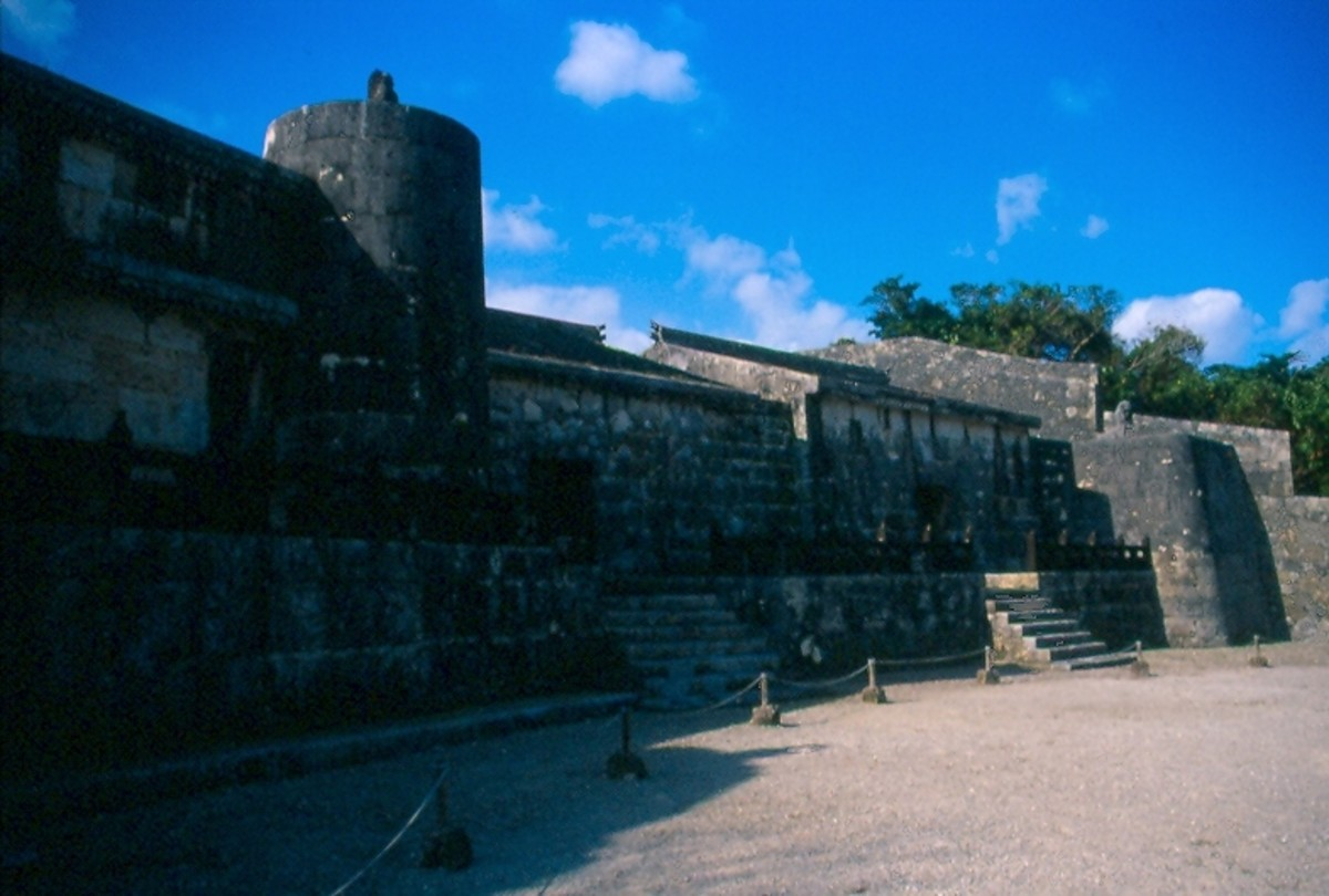 The Royal Masoleums of Tamaudan, Shuri, Okinawa.  One of many sites in Okinawa that is World Heritage.