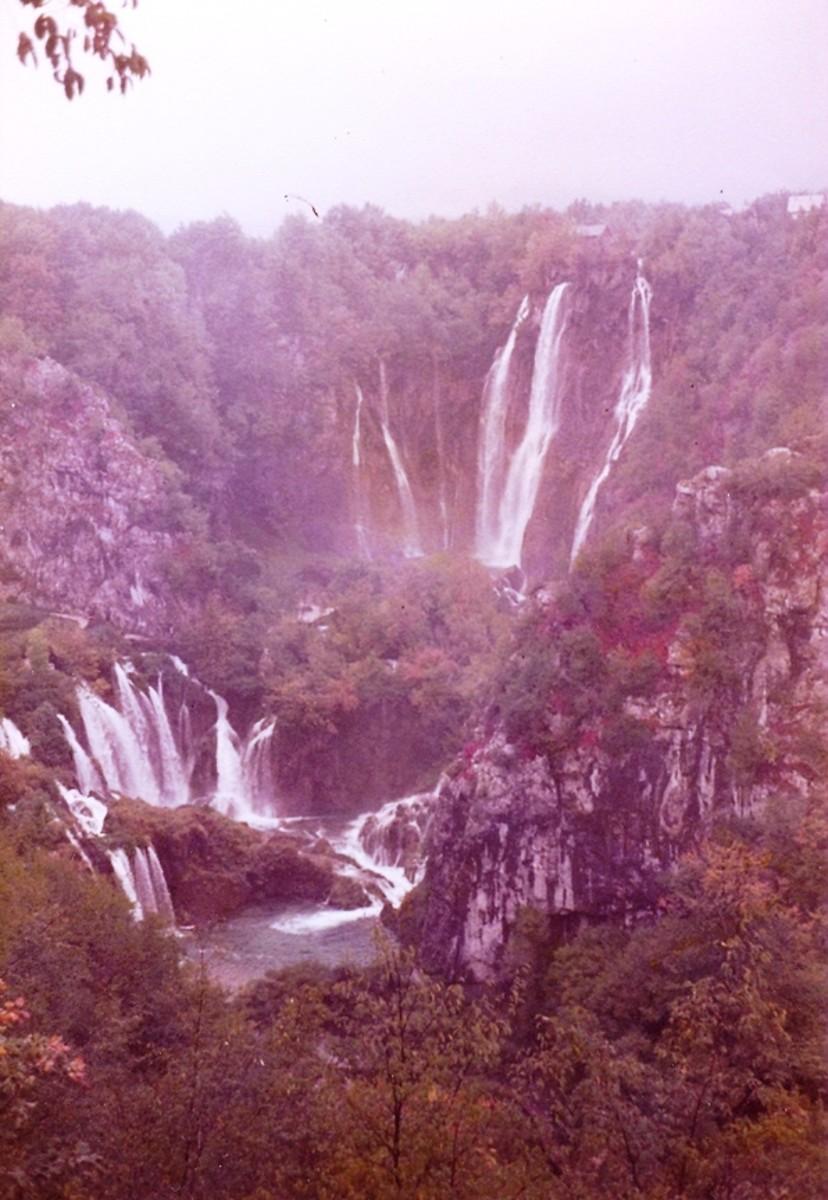 The waterfalls at Plitvice National Park, Croatia.