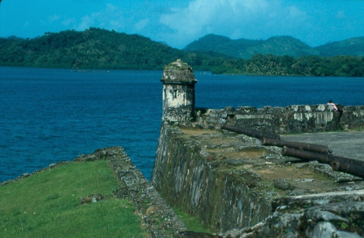 Portobelo, Panama. The preserved fort is a World Heritage Site.