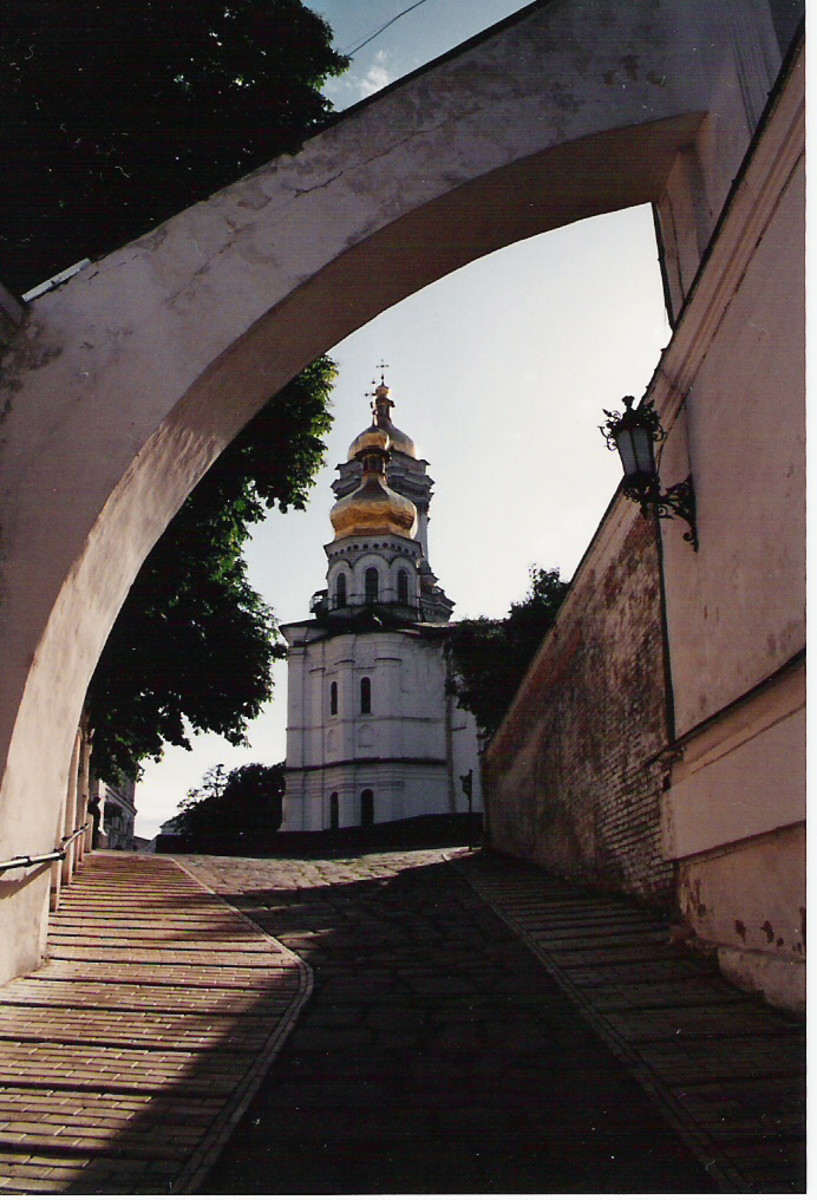 Kiev, Ukraine's Pecherska Lavra, a church-monastery ensemble that dates to the early middle ages.