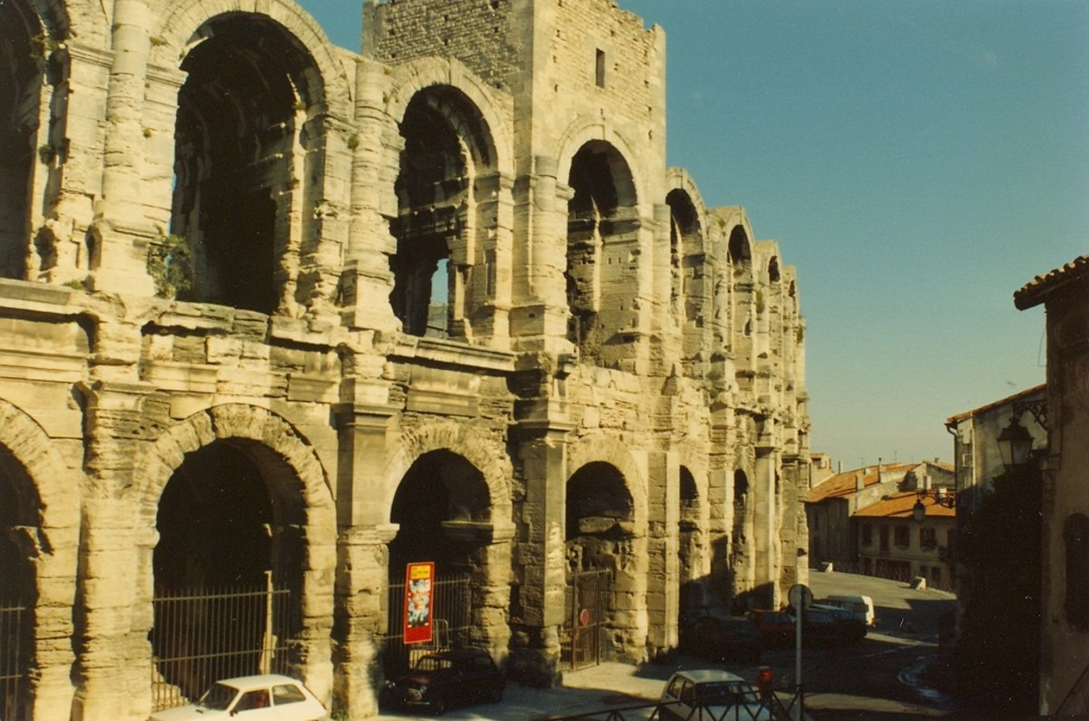The Roman ampitheater, Arles, France.