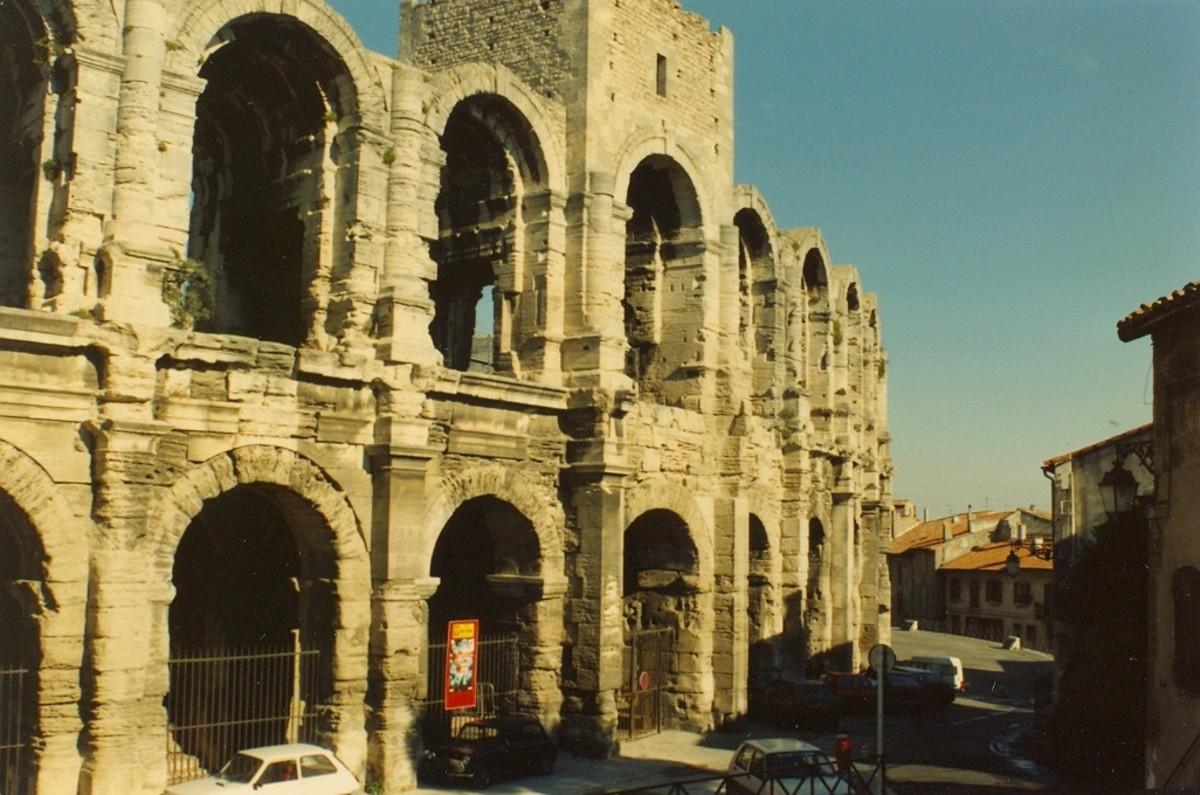 The Roman ampitheater, Arles, France.