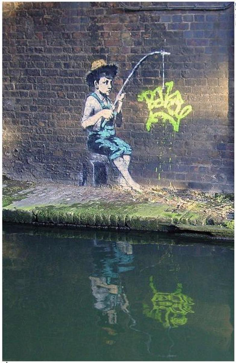 This graffiti art was spotted in Regent's Canal, London.