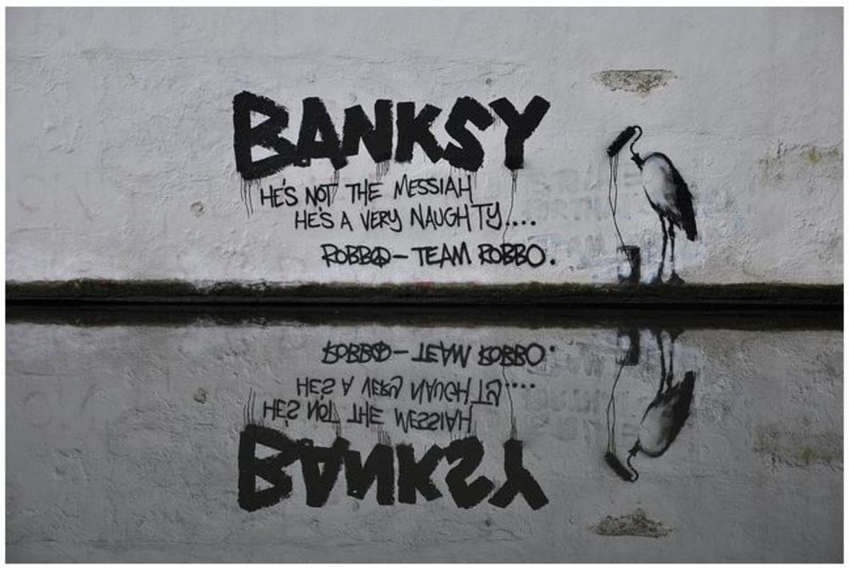 More evidence of the Robbo vs. Banksy rivalry - see the photo above for more info.