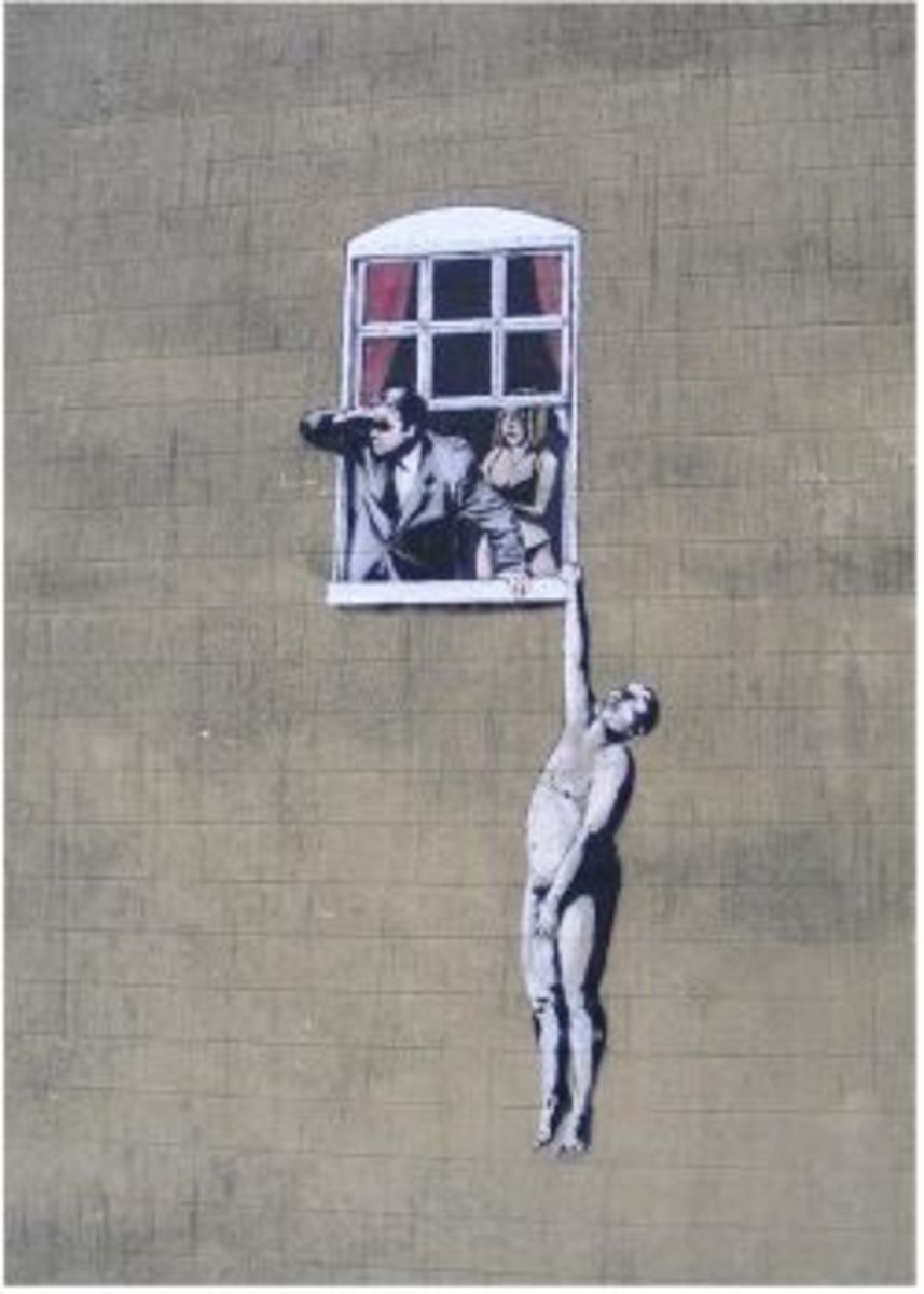 ★ BANKSY Graffiti Locations | Stencil Street Art Photo Gallery ★
