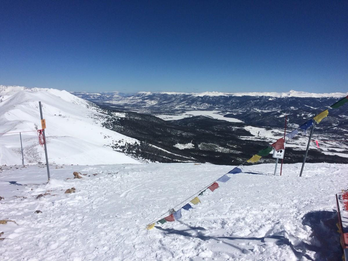 Skiing on the top of Breckenridge in Colorado