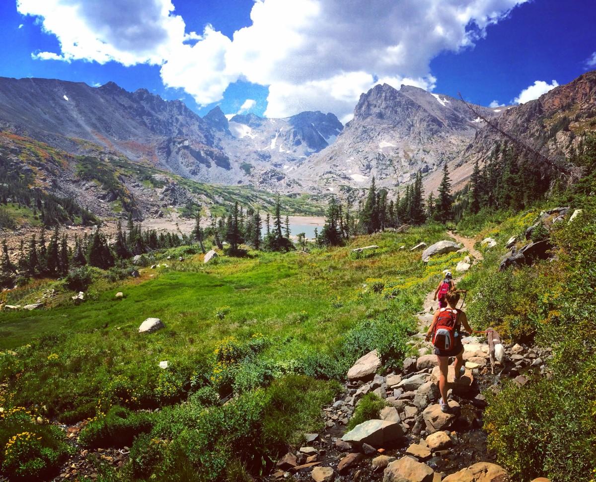 Hiking in Indian Peaks Wilderness Colorado