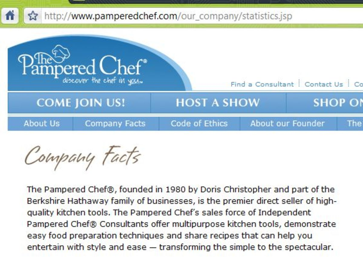 "The actual company Warren Buffett was referring about ""best investment""... Warren Buffett controls Berkshire Hathaway, and Berkshire Hathaway controls Pampered Chef."