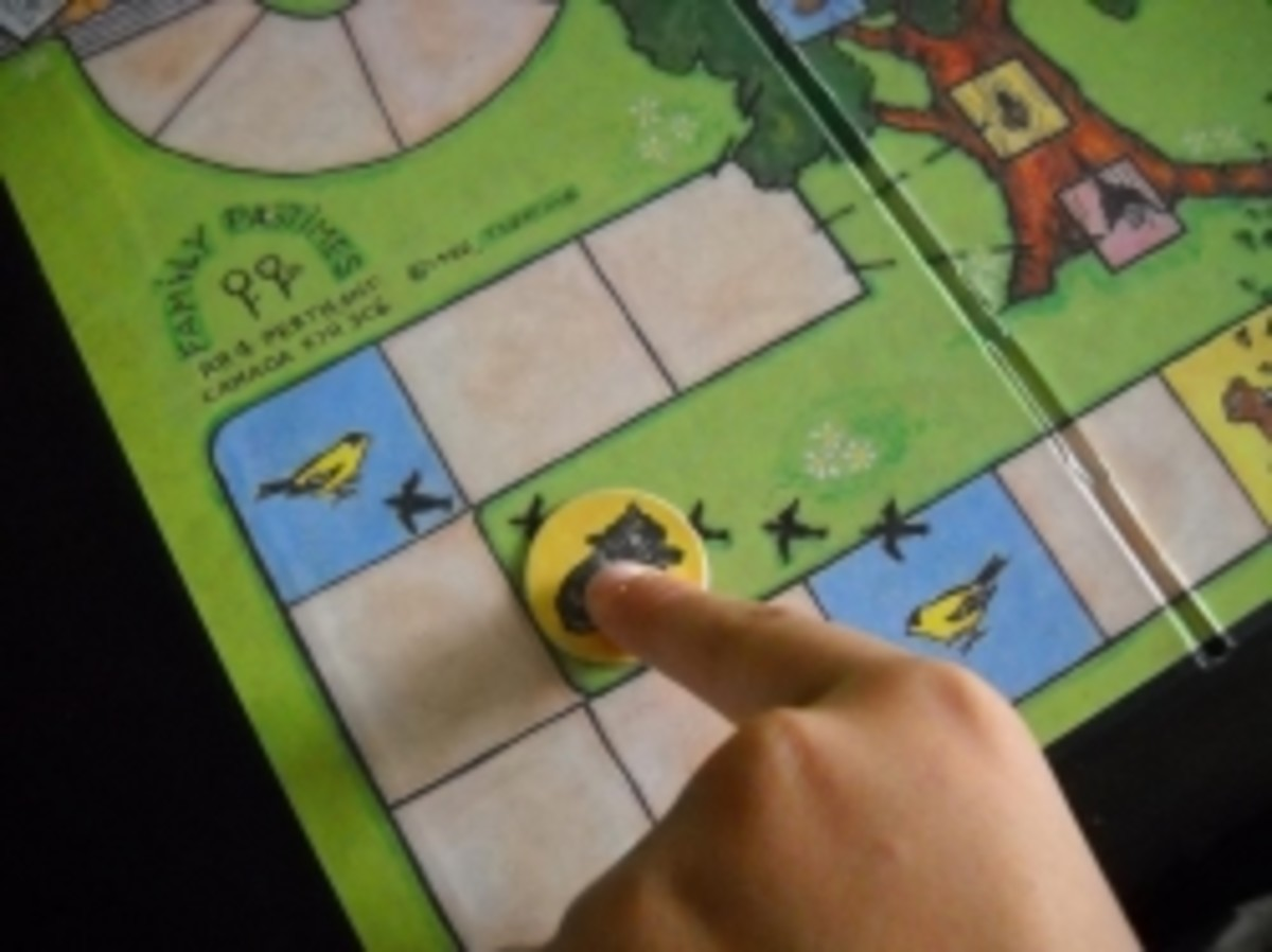 Max, the Cat,  is on the Move in the Board Game