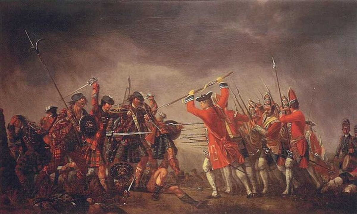 The Battle of Culloden (1746) by David Morier, oil on canvas.
