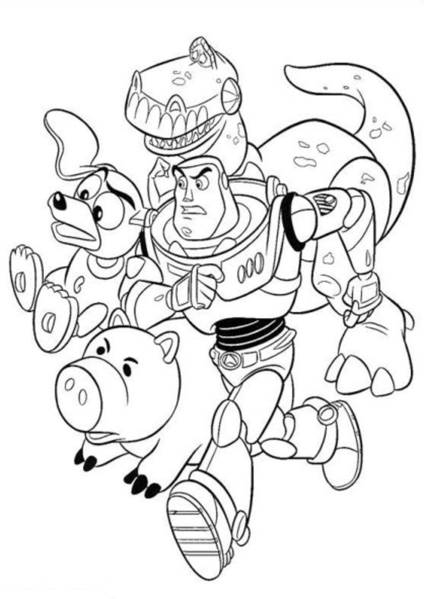 Toy Story 3 Kids Coloring Pages with Free Colouring ...