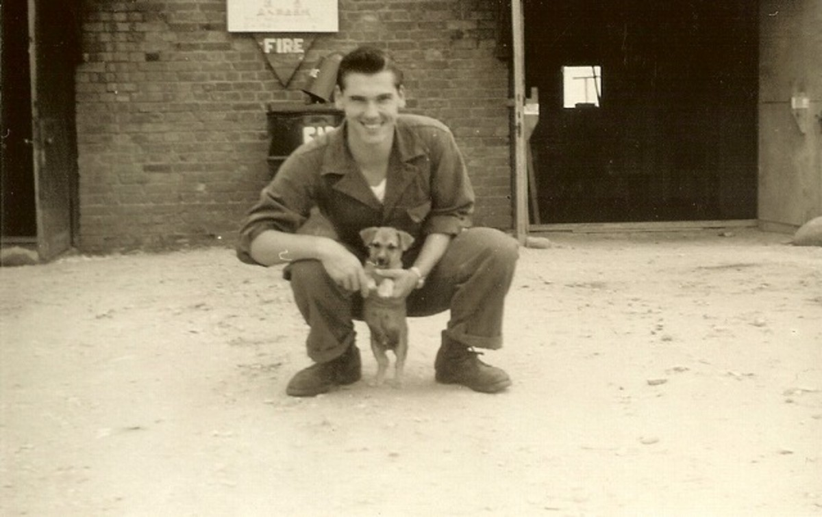 My dad as a young Air Force officer in Japan in the 50s