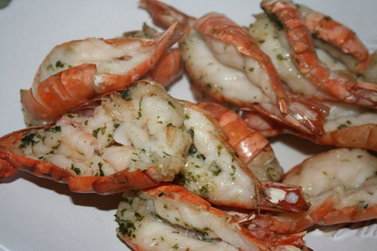Colossal shrimp is the largest commercial grade.