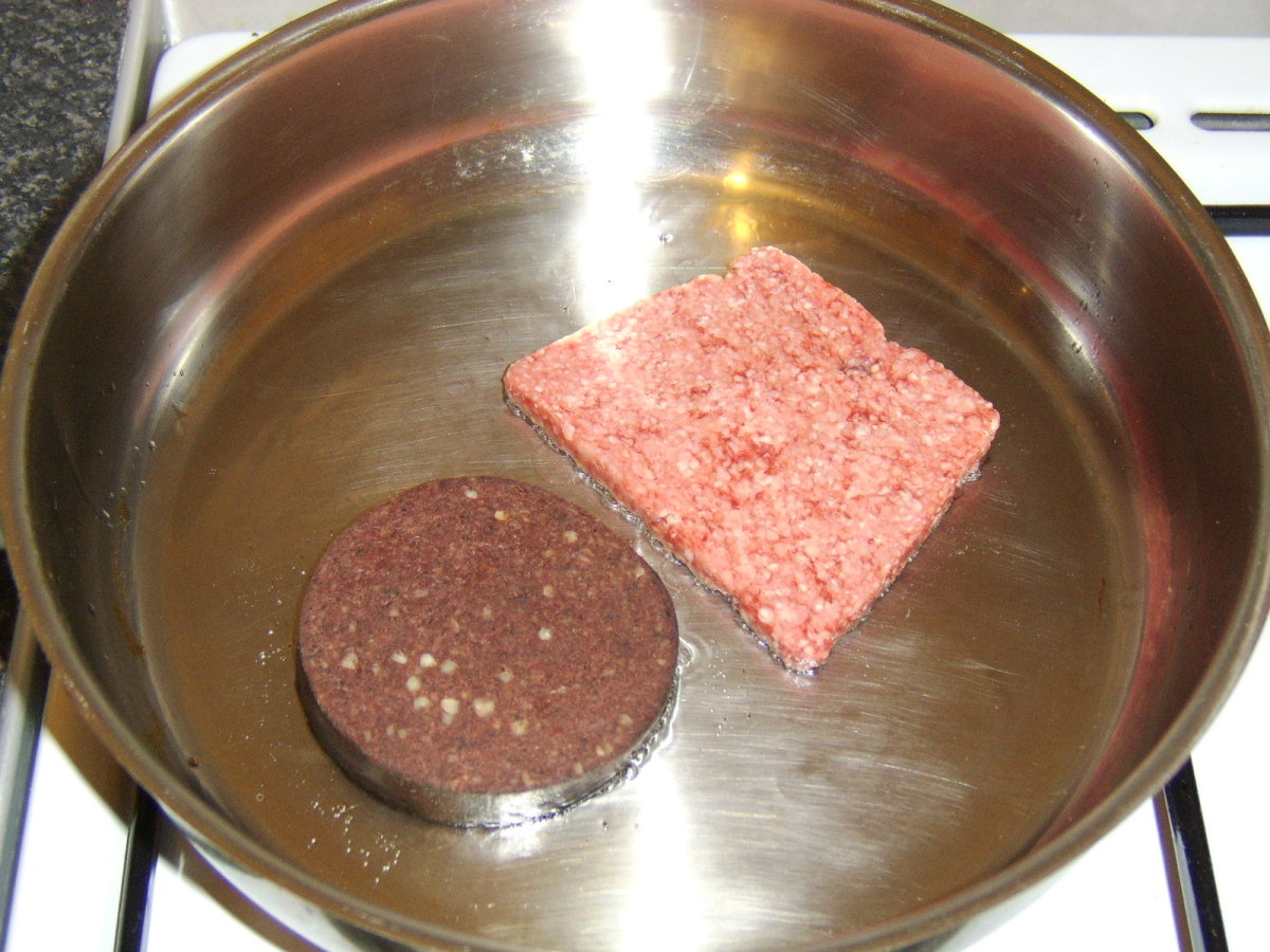 Lorne Sausage and Black Pudding go in to the Frying-Pan