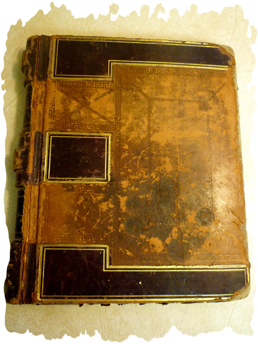 Well-worn journal of my grandmother's with handwritten recipes inside
