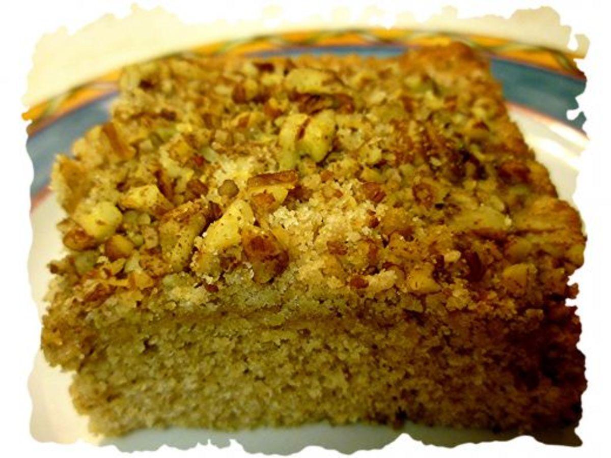A scrumptious slice of crumb cake