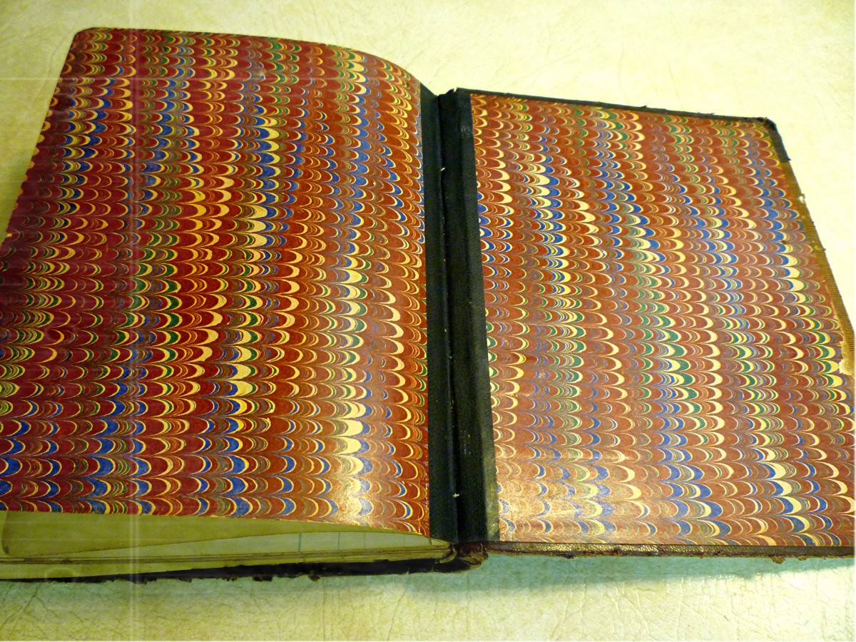 Beautiful Endleaves in this old journal of my grandmother's