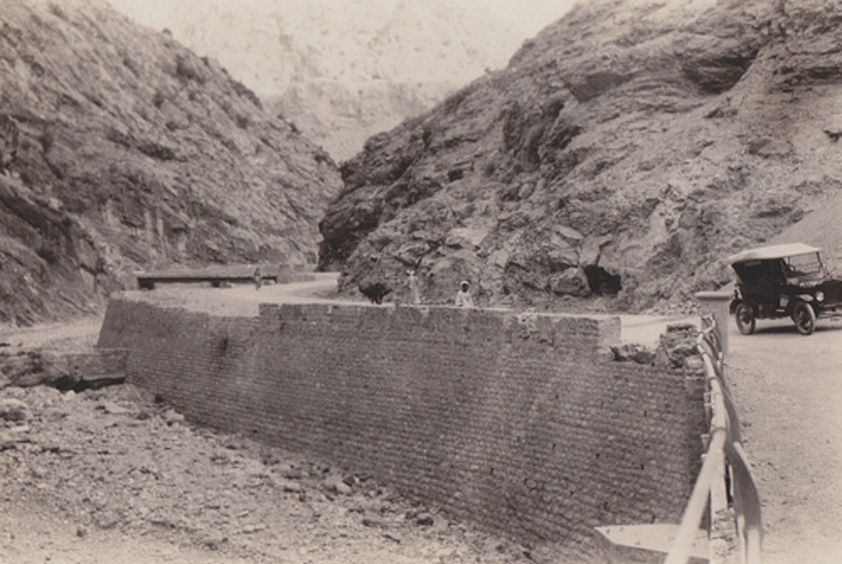 An old photo of The Khyber Pass