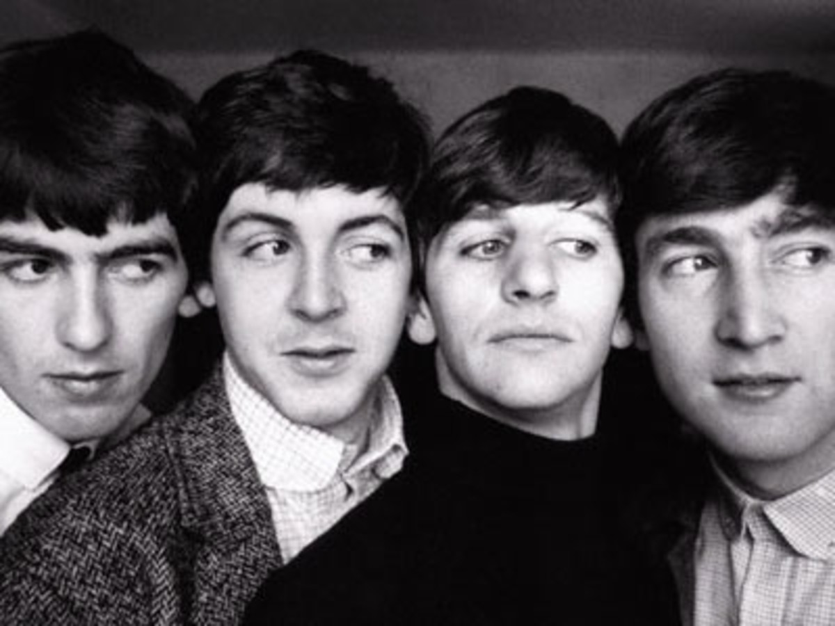 L-R: George, Paul, Ringo, John