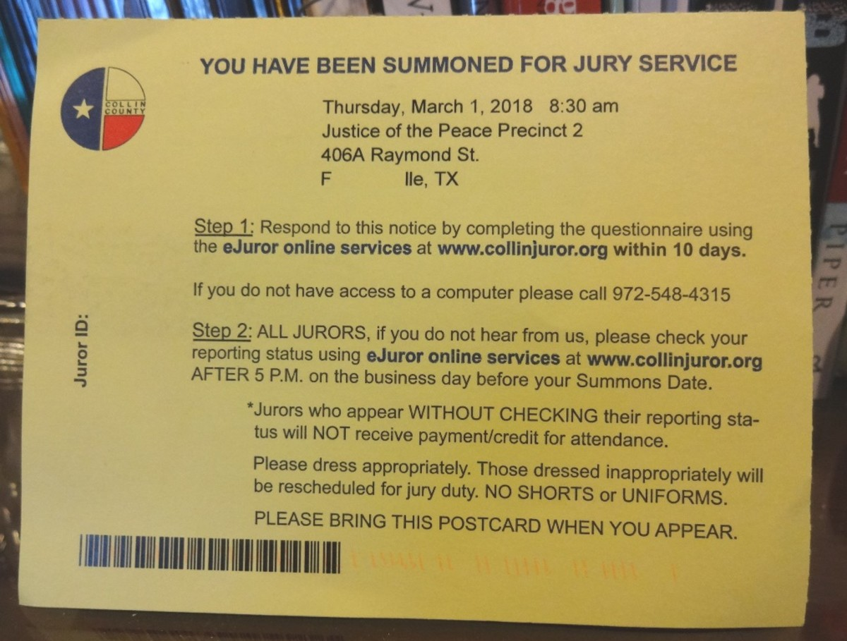 You Have Been Summoned for Jury Service | HubPages