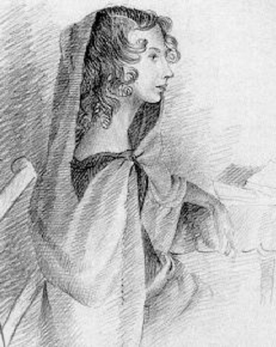 Sketch of Anne Bronte by Charlotte Bronte