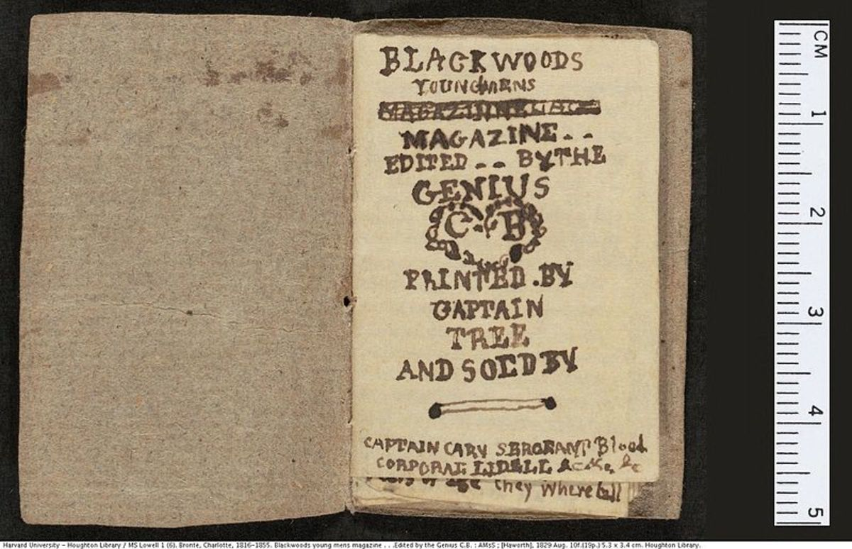 An example of one of the tiny books created by the young Brontes.