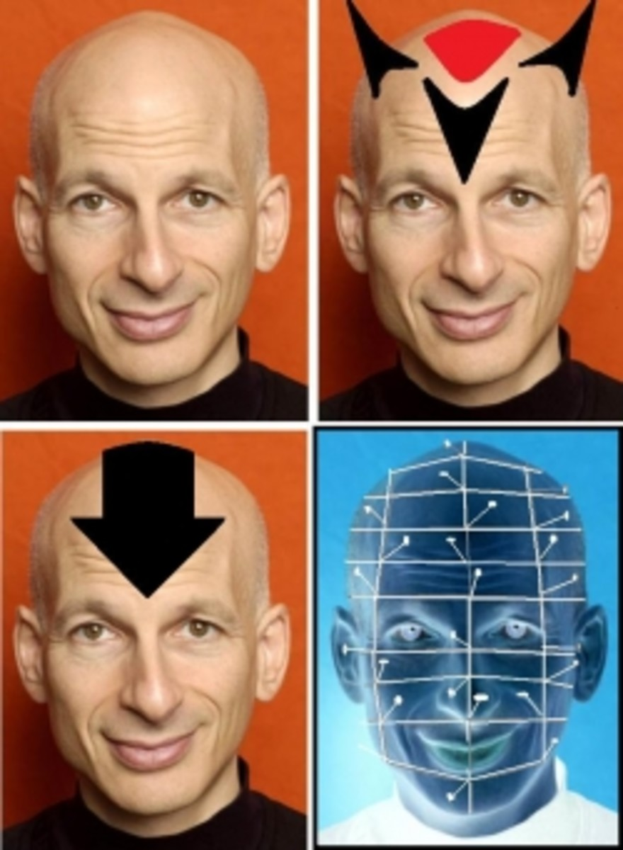 how to apply halloween costume makeup on a bald or shaved head
