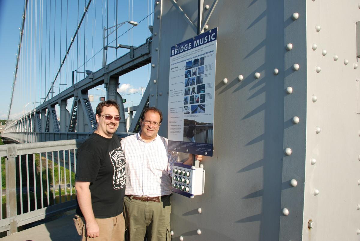 Me and the composer of Bridge Music, Joseph Bertolozzi.