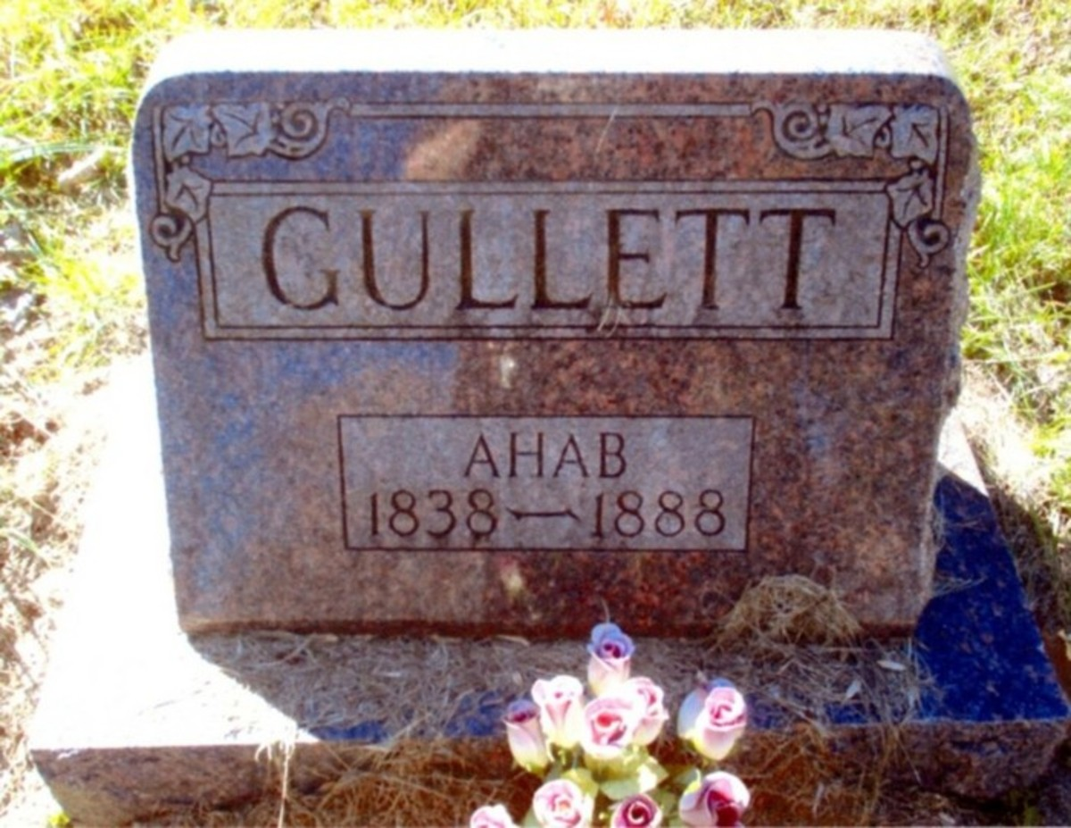 The grave of Ahab Gullett