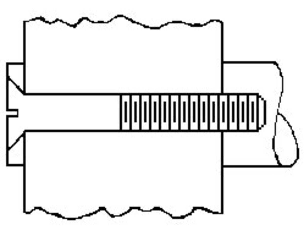 Standard through-bolt mounting.