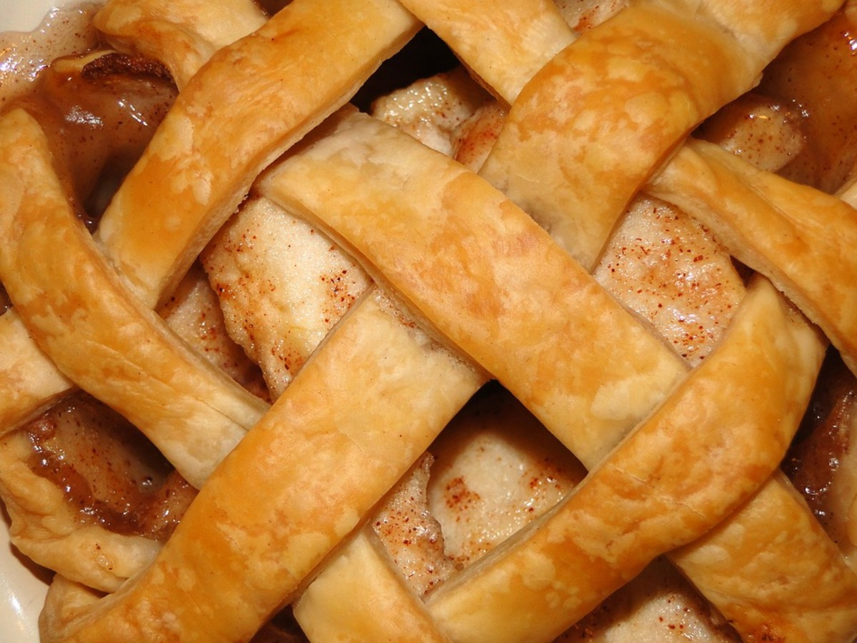 Apple pie is popular in the bakery.